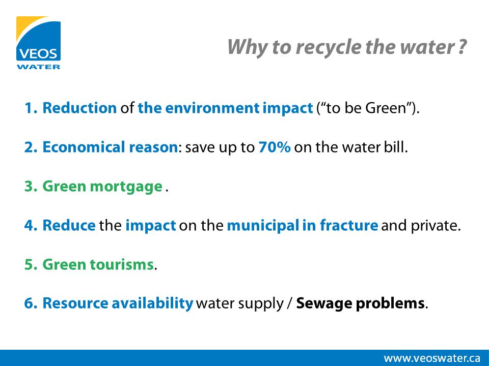 Donnez-moi 6 bonnes raisons de recycler l'eau !